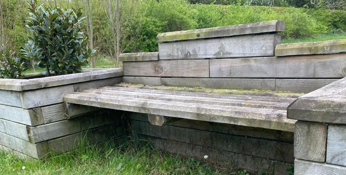 Community garden bench